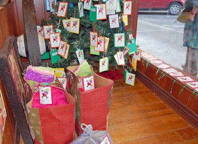 Giving trees sprout holiday cheer