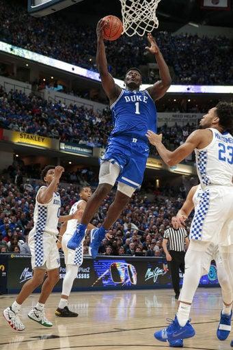 Fantastic freshmen help No. 4 Duke blow out No. 2 Kentucky