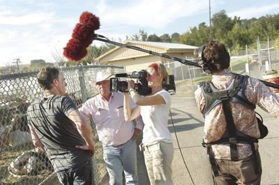 BBC films wolf doc in Pendleton