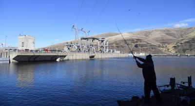 Snake River Dam fishing
