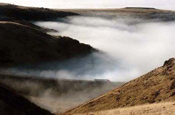 Into the fog below