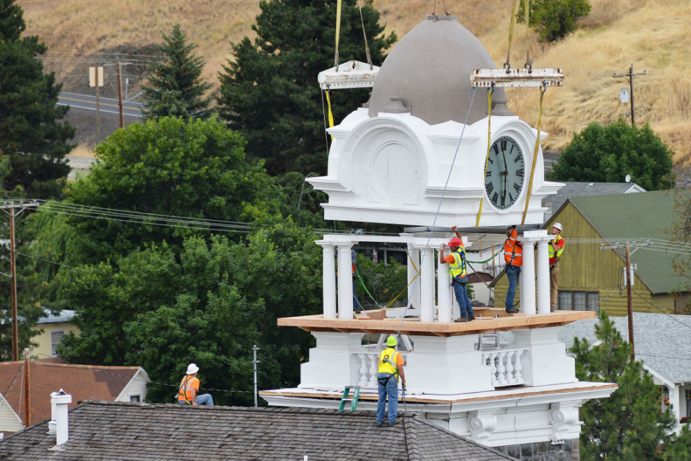 Clock tower returns to historic Morrow County Courthouse