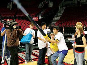 Students win Intel/Trail Blazers T-shirt launcher challenge