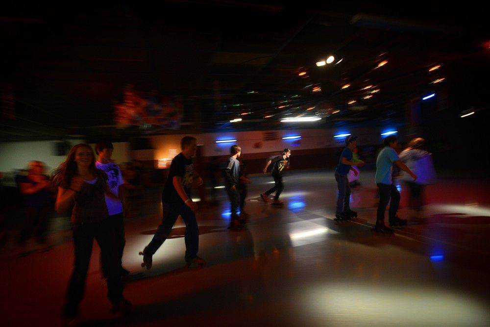 Going round and round at Pendleton Skate City roller rink