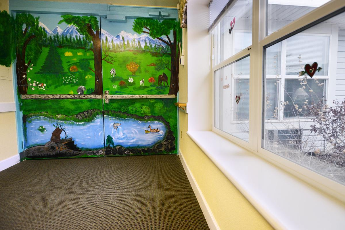 Camouflaged door calms Alzheimer's residents