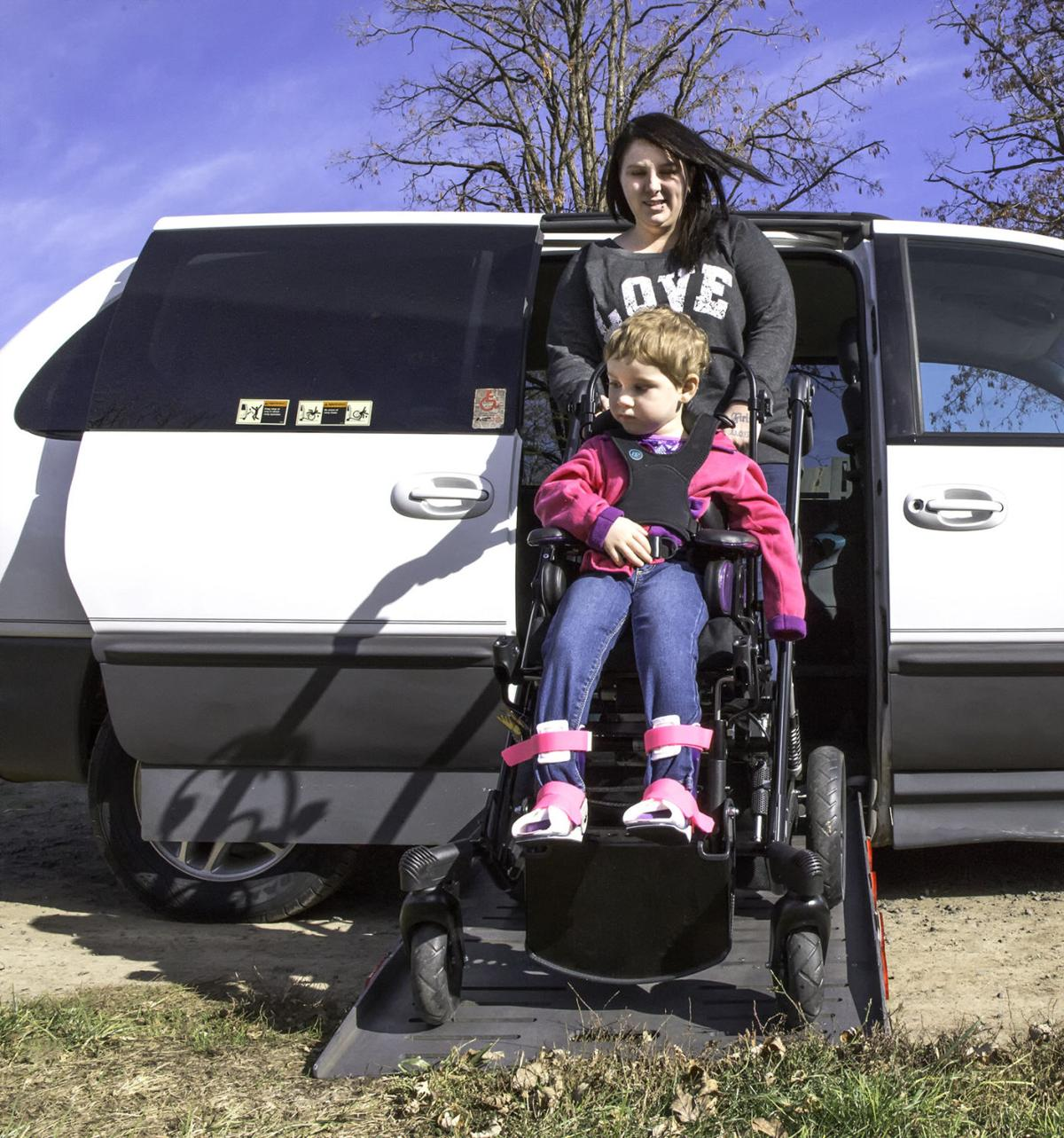 Gift of van moves  disabled toddler's mother