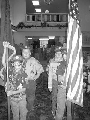Scouts perform flag ceremony for vets
