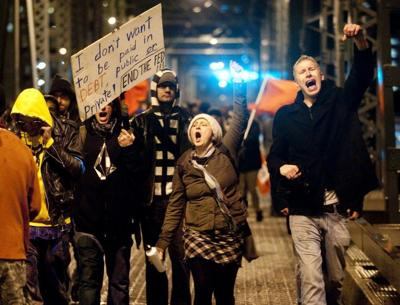 Portland protesters march in solidarity with Oakland