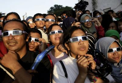 How to view the eclipse safely
