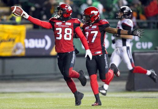 Calgary Stampeders win Grey Cup, beating Ottawa 27-16