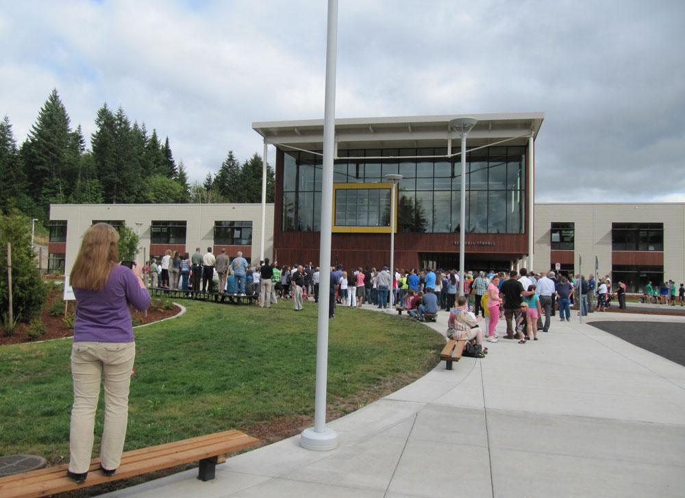 Vernonia Celebrates School's Move To Higher Ground