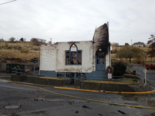 Arson blamed for Arlington church destruction