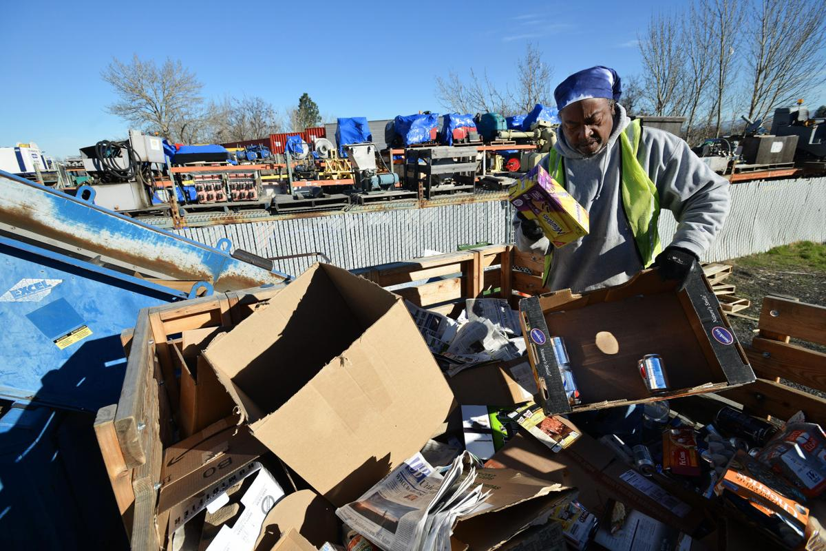 Milton-Freewater  Curbside recycling dumped