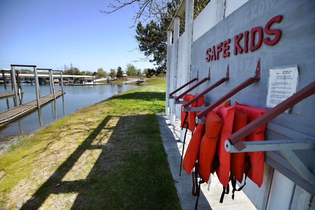 Son survives, father drowns