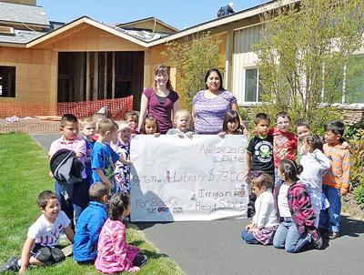 Head Start students collect coins for Irrigon library