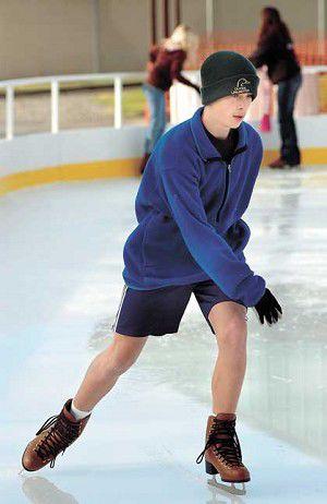 Summer wear on ice
