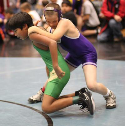 Youth wrestlers hit the mats