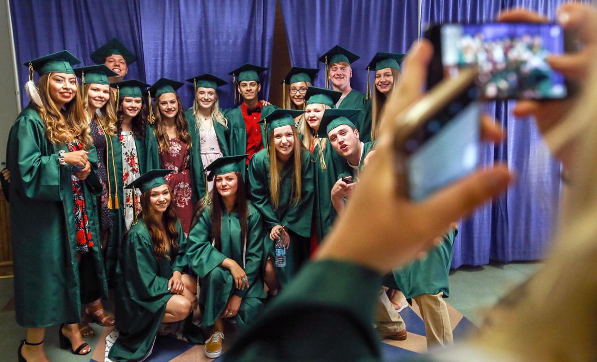 PENDLETON Buckaroos tip graduation hats to the future