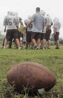 For a place ripped by Ike, redemption in football