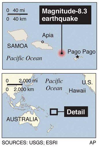 Tsunami smashes Samoa's shores