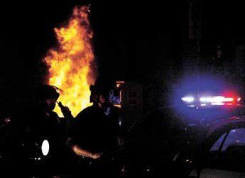 Officers hurt as Laker title celebration gets wild