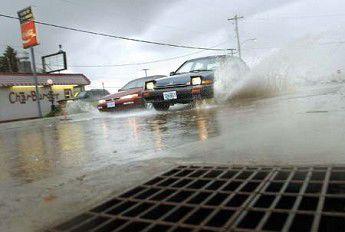 Wednesday's storm beats month's average rainfall