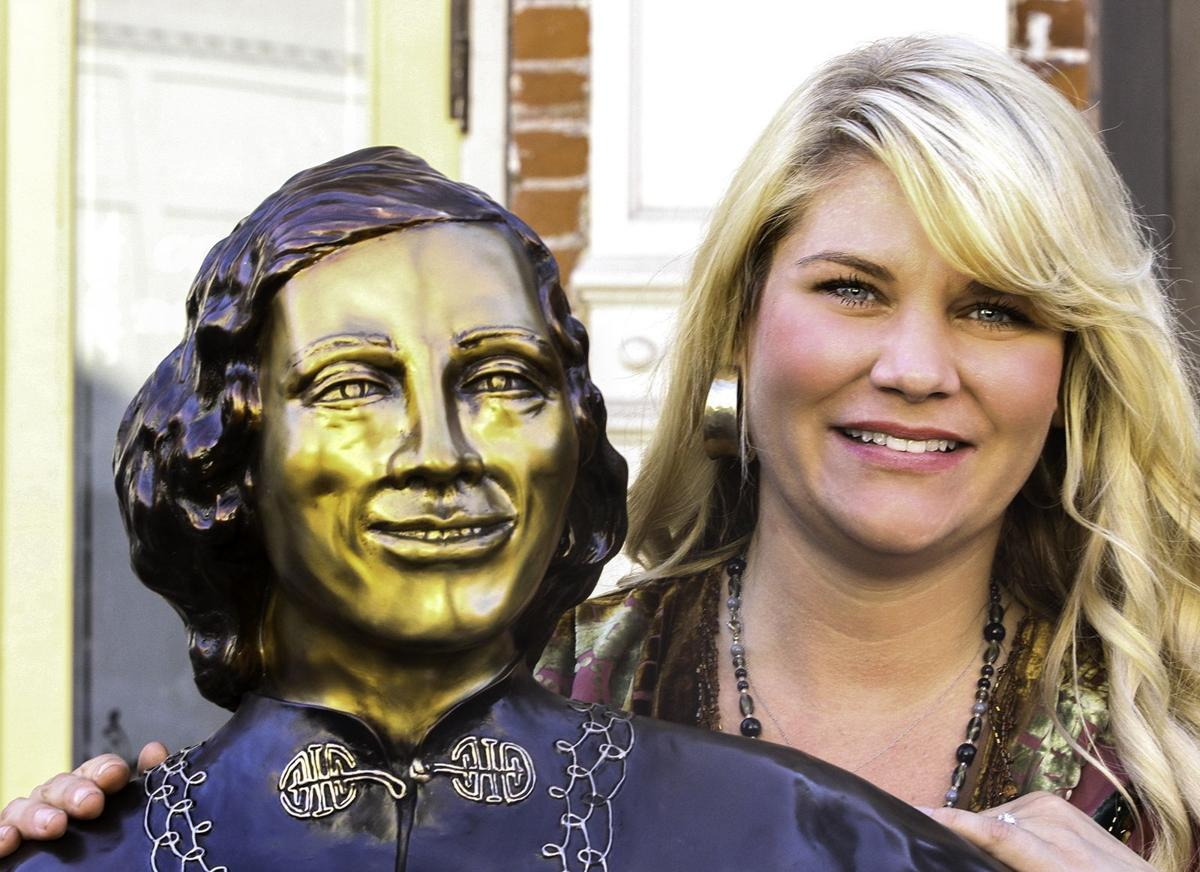Statue of Stella Darby unveiled in downtown Pendleton