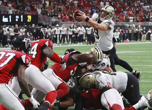 Streaking Saints, Brees seek to ground sagging Falcons