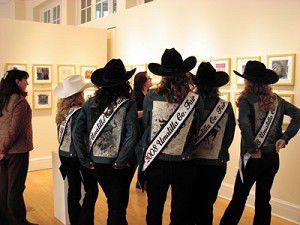 Fair court members enjoy fine art