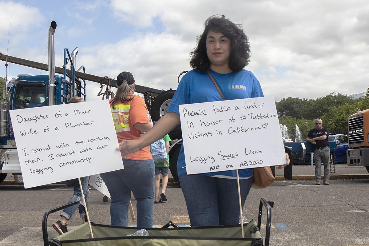 Logger protest 7