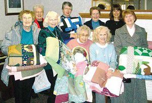 Peace Lutheran Church quilters piece together gifts for Willowbrook