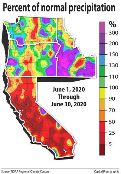 Western precipitation percent 3D