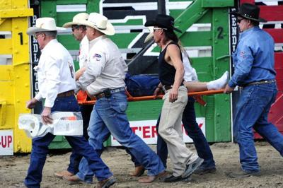 Two riders injured in relay race collision