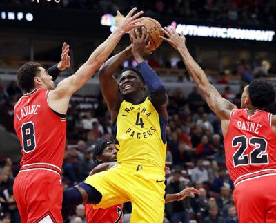 Oladipo leads balanced Pacers past Bulls 107-105