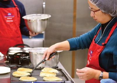 Warm pancakes start the holidays
