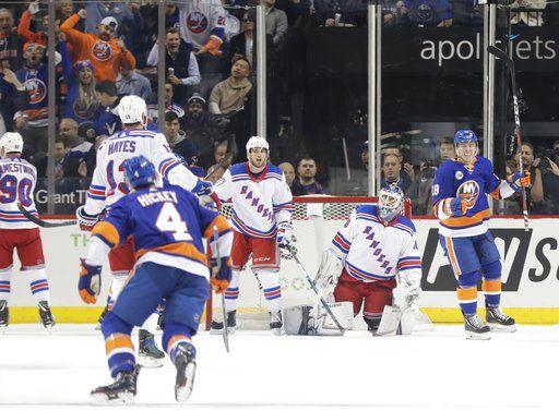 Beauvillier scores 3, Islanders hold off Rangers 7-5