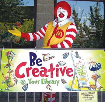 Ronald promotes reading