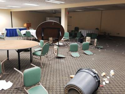 PENDLETON Teen trashes convention center