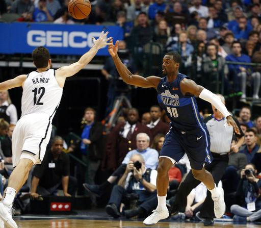 Barnes scores season-high 28 as Mavericks beat Nets 119-113
