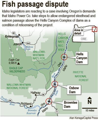 Halfway Oregon Map.Idaho Irrigators Back Bills Fighting Oregon Fish Plan Local News