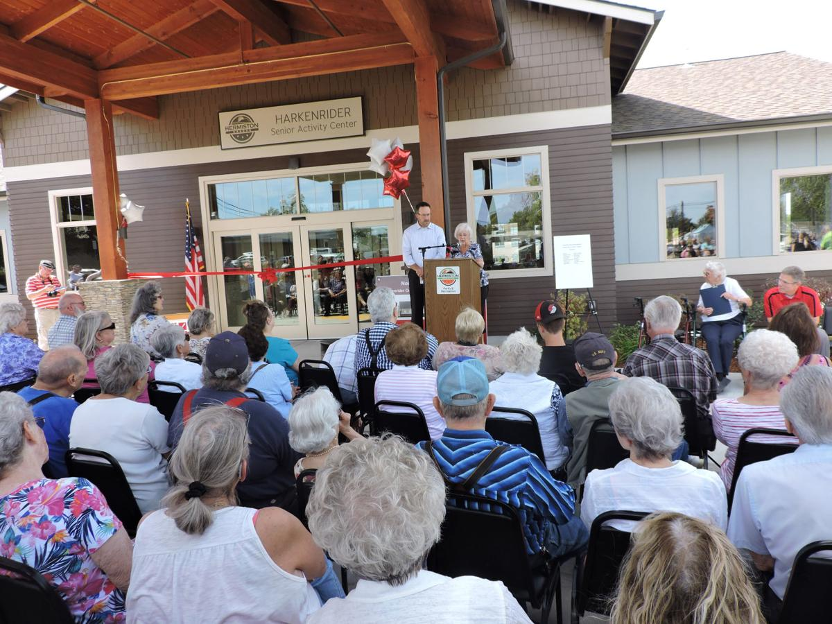 Hermiston celebrates opening of Harkenrider Center