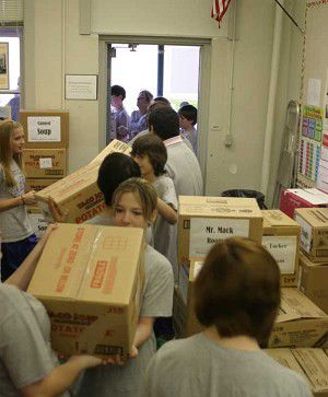 Students collect thousands of items for food drive