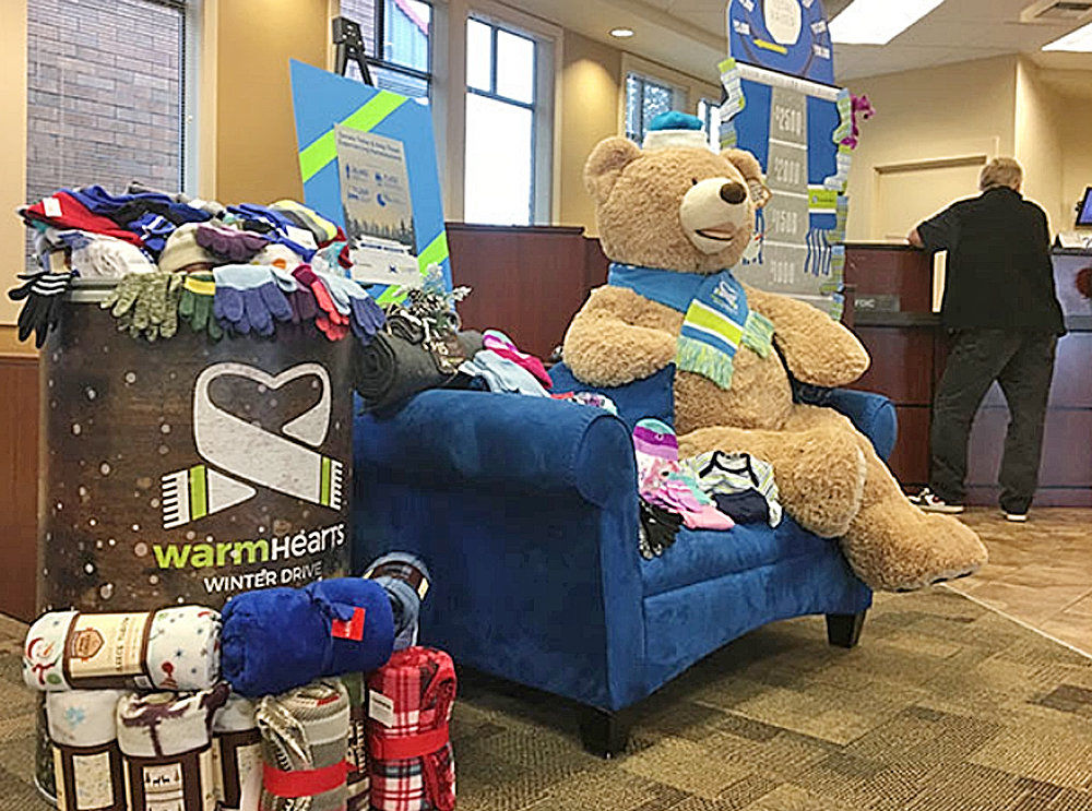 Columbia Bank warms up homeless shelters