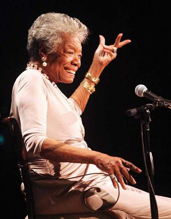 Angelou extols power of poetry