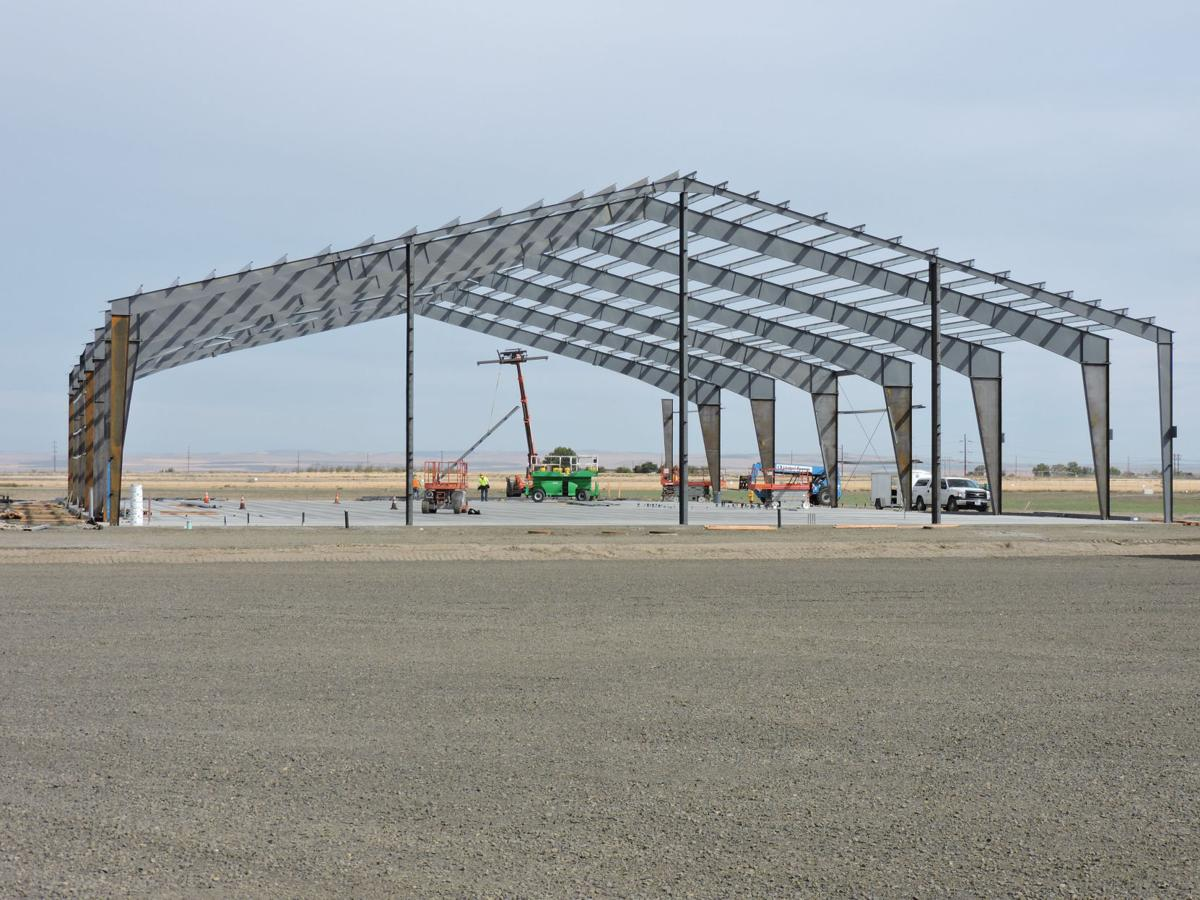 EOTEC event center construction in motion