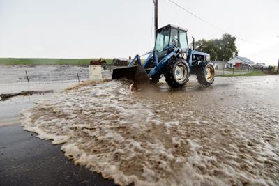 PILOT ROCK Storm burst leaves little damage