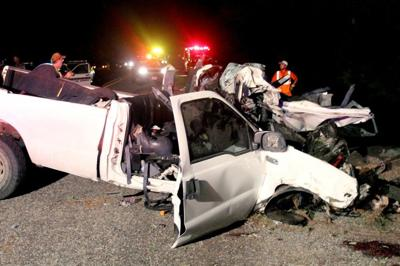 Authorities trying to ID 14 killed in Texas crash