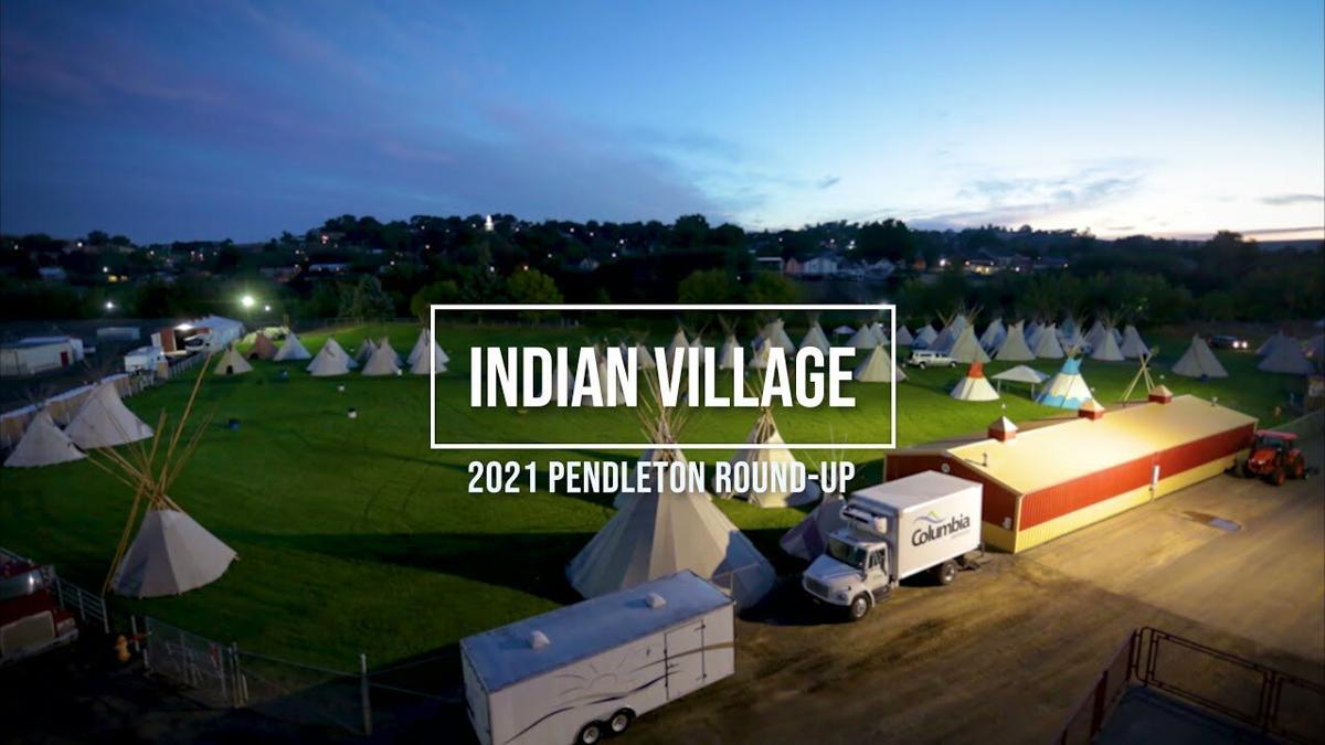2021 Pendleton Round-Up Indian Village Set Up
