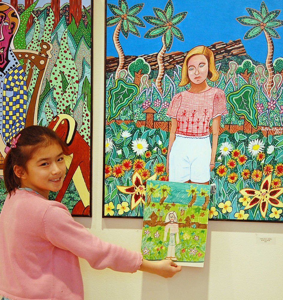 Colorful paintings fill Pendleton Arts Center