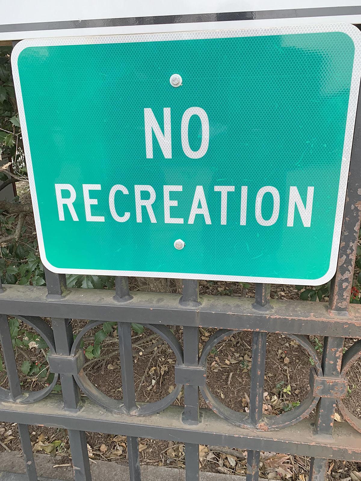 No recreation